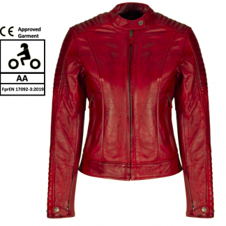 For your MotoGirl Valerie Red Leather Jacket